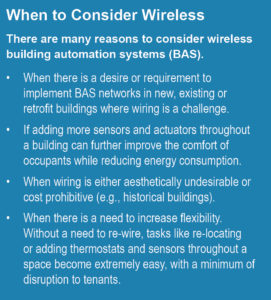 wireless building automation systems (BAS)